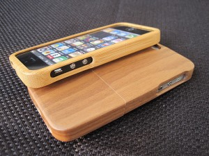 iphone bamboo case handmade
